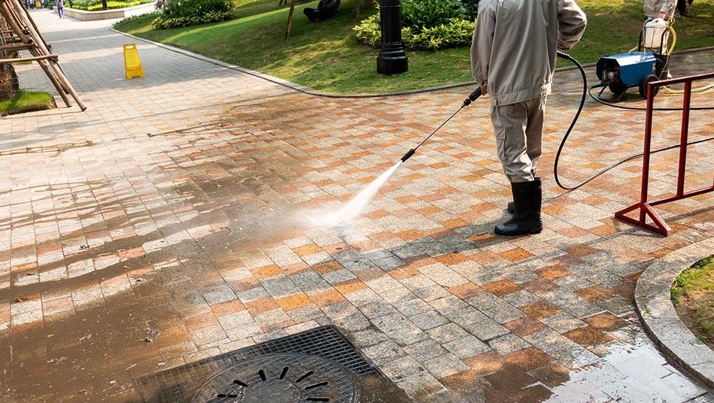 Sidewalk Scrubbing